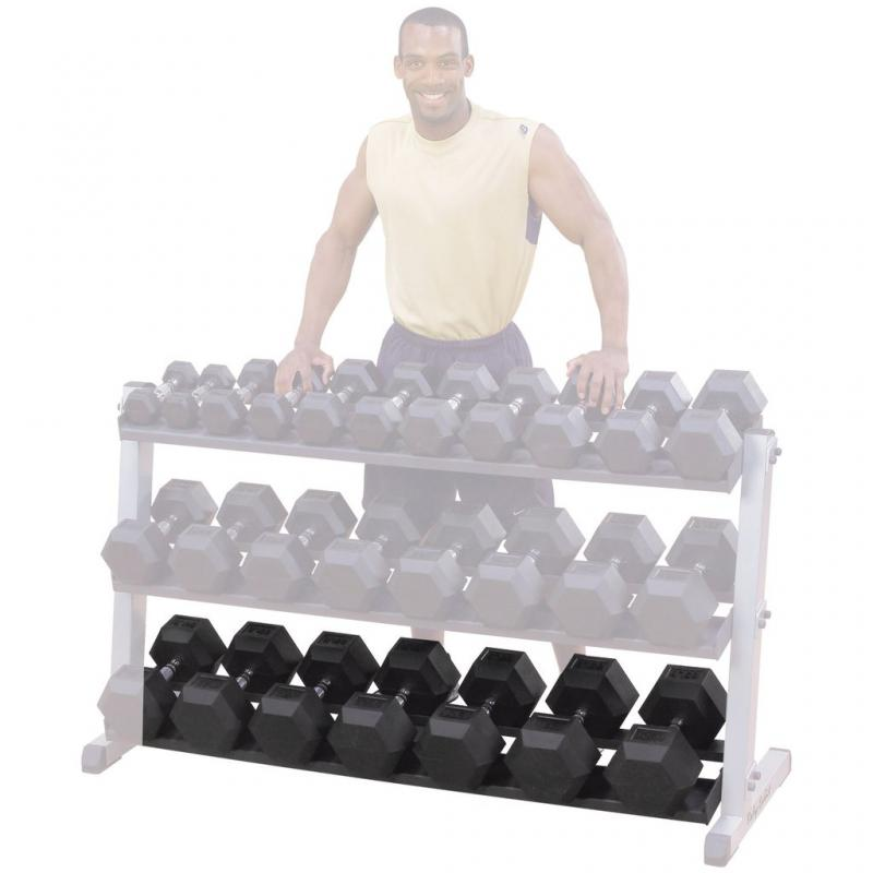 - Body Solid Hexagon Rubber Dumbbell – 8 kg – p--paar