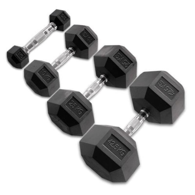 - Body Solid Hexagon Rubber Dumbbell – 15 kg – p--paar