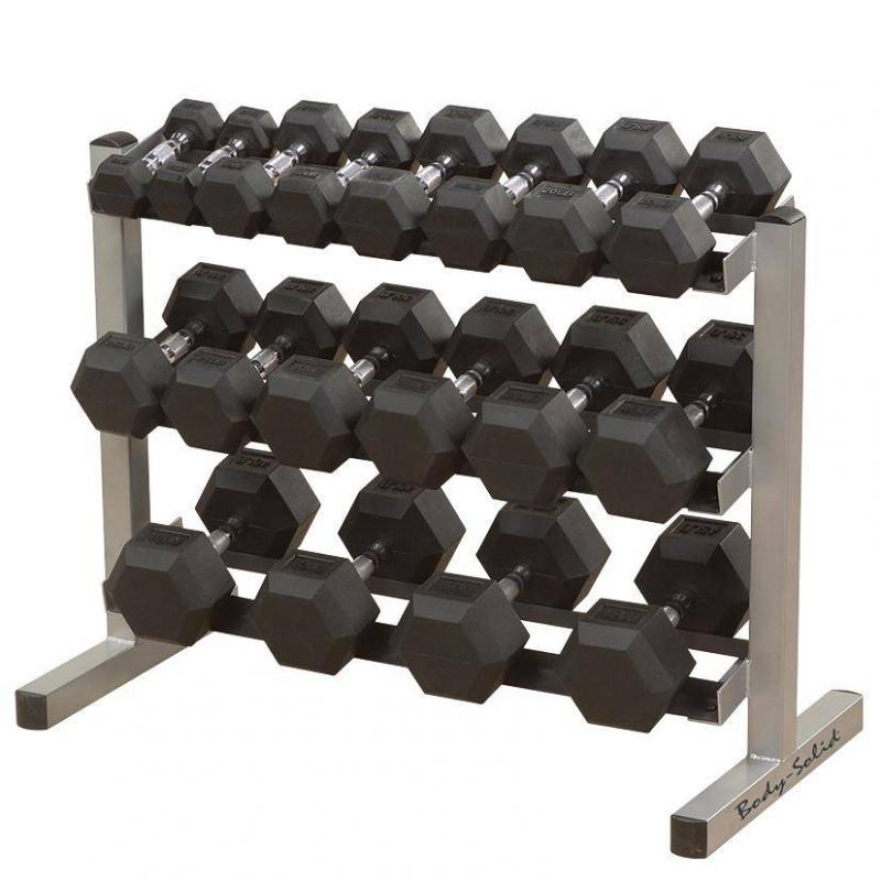 - Body Solid Hexagon Rubber Dumbbell – 30 kg – p--paar